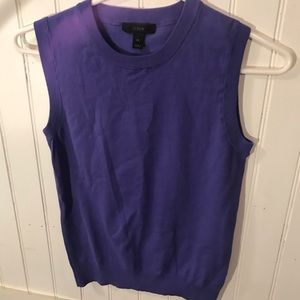 J Crew women's lilac purple vest top small